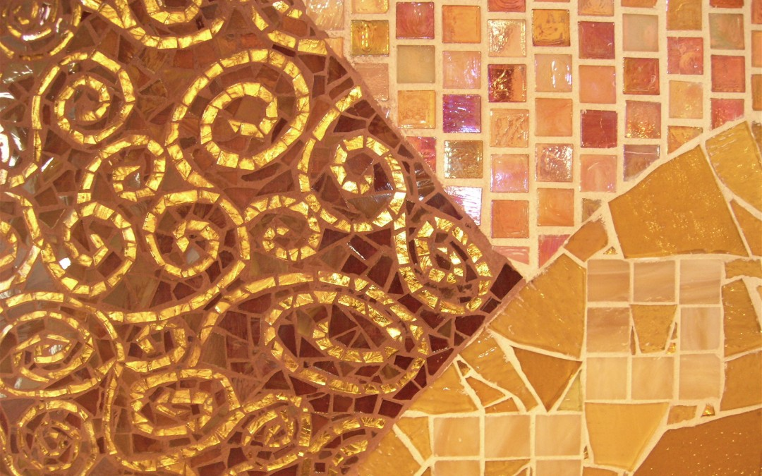 Homage to Klimt Kitchen Back Splash