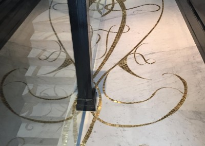 Penthouse Gold & Marble Mosaic Floor