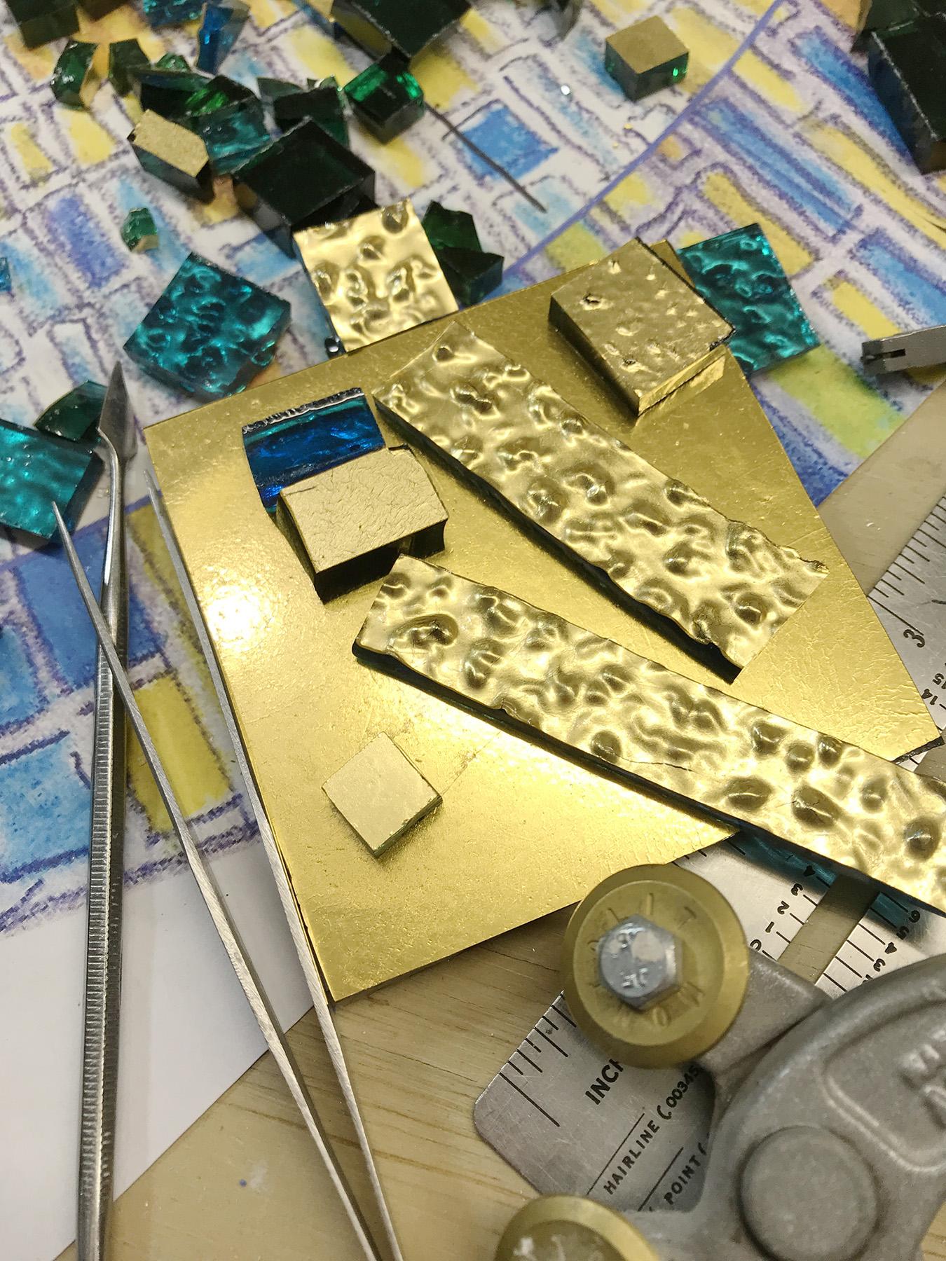gold-tile-baptismal-font